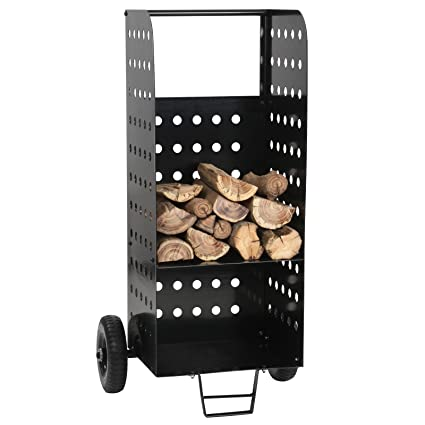 Jago - Carro de hierro con ruedas para leña madera - carga máxima aprox. 100