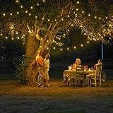 12 m de longitud 100 con energía solar LED Luz de Navidad, color (blanco cálido) para la fiesta y de la Navidad