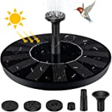 Solar Fountain Pump for Bird Bath, Upgrade 1.4W Solar Powered Water Fountain Pump with 4 Nozzle, Free Standing Floating Solar Bird Bath Fountains Pump for Outdoors, Pond, Pool, Garden (No Battery)