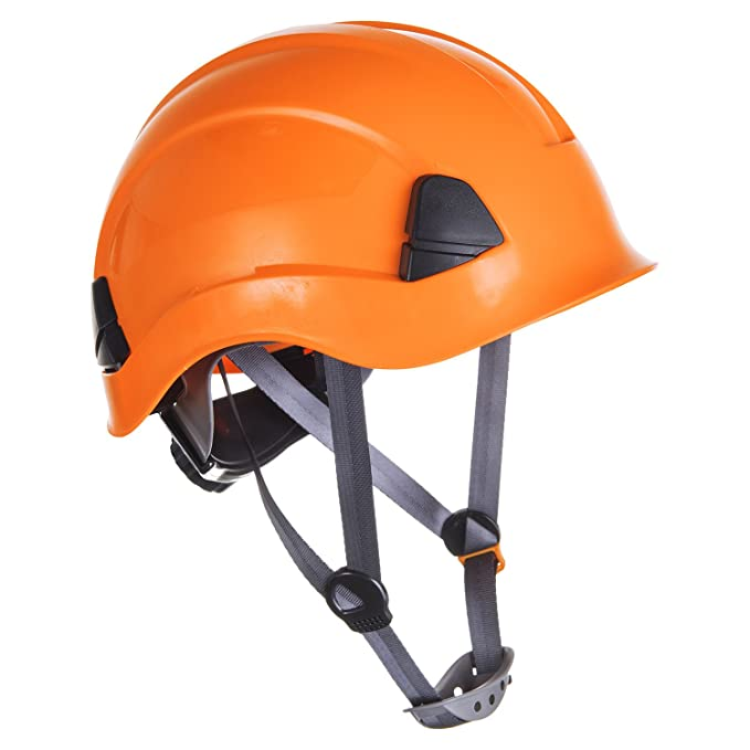 Black Height Endurance Scaffolding Steeplejack Climbing Work Safety Helmet Hard Hat With Chin Strap Black