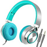 Stereo Folding Headphones, Headsets with Microphone for iPhone,iPod,iPad, Android Smartphones, PC, Laptop, Mp3/mp4, Tablet Macbook Earphones