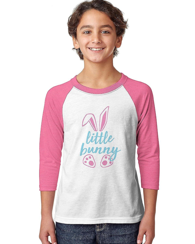 SpiritForged Apparel Little Bunny Easter Youth 3//4 Raglan Shirt