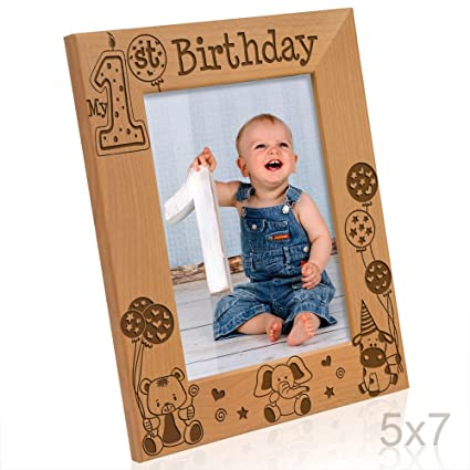 Amazon.com - Kate Posh - My First (1st) Birthday Picture Frame ...