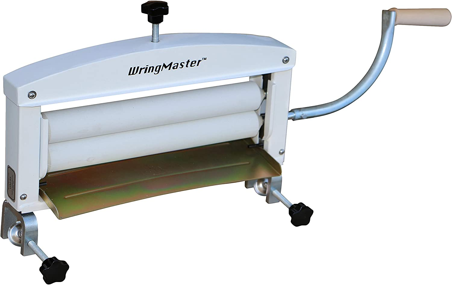 "WringMaster Clothes Wringer Hand Crank - Extra Wide 14"" Rollers - for Home, Boating, Camping, Laundry Dryer"