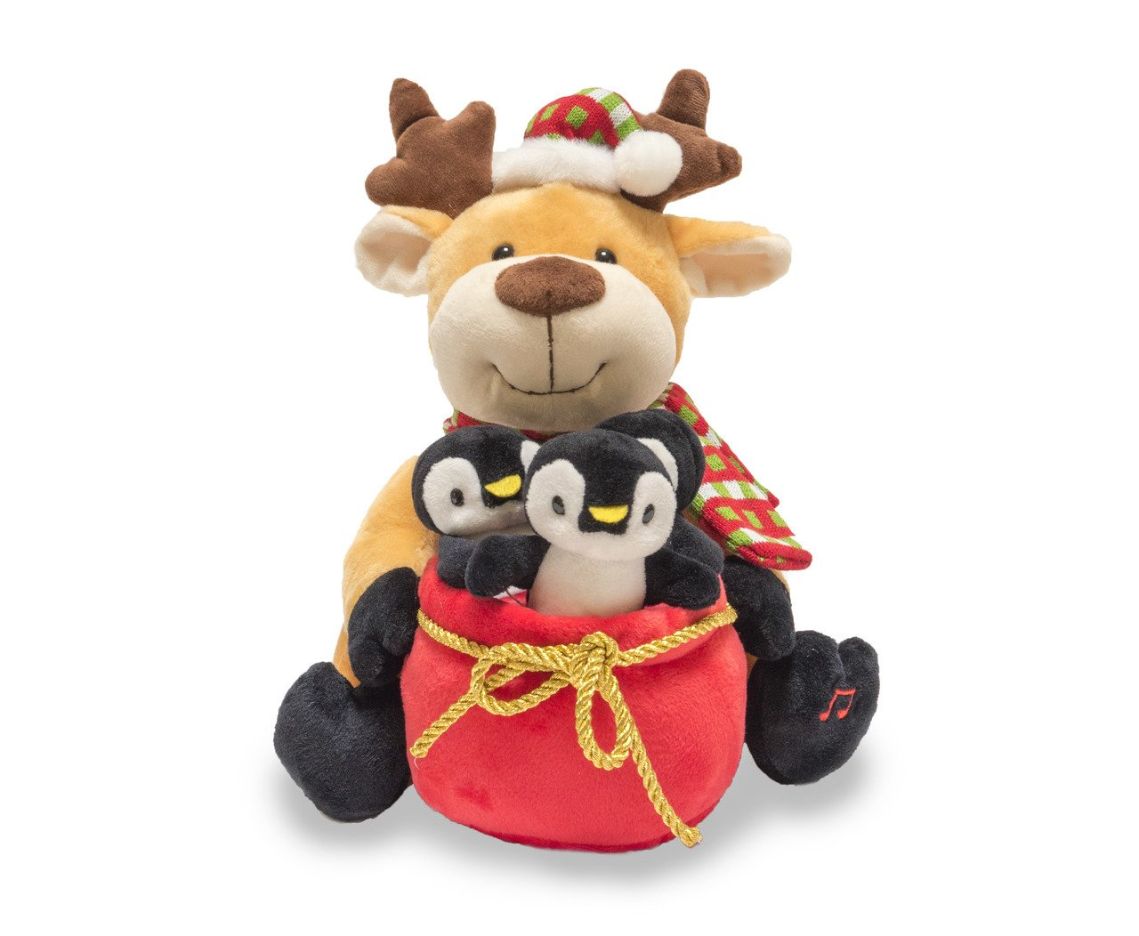 Cuddle Barn Christmas Animated Singing Dancing Light Up Rudy The Jingles