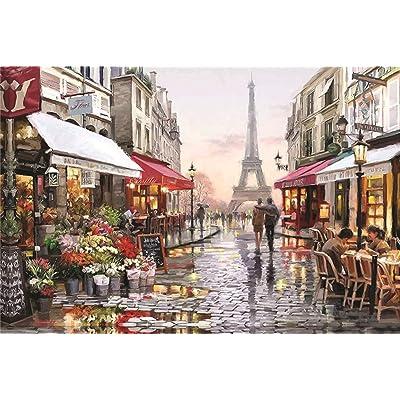 getong Jigsaw Puzzles for Adults 1000 Piece - Paris Street Jigsaw Puzzle Adults Puzzles DIY Educational Jigsaw Modern Home Decor: Toys & Games