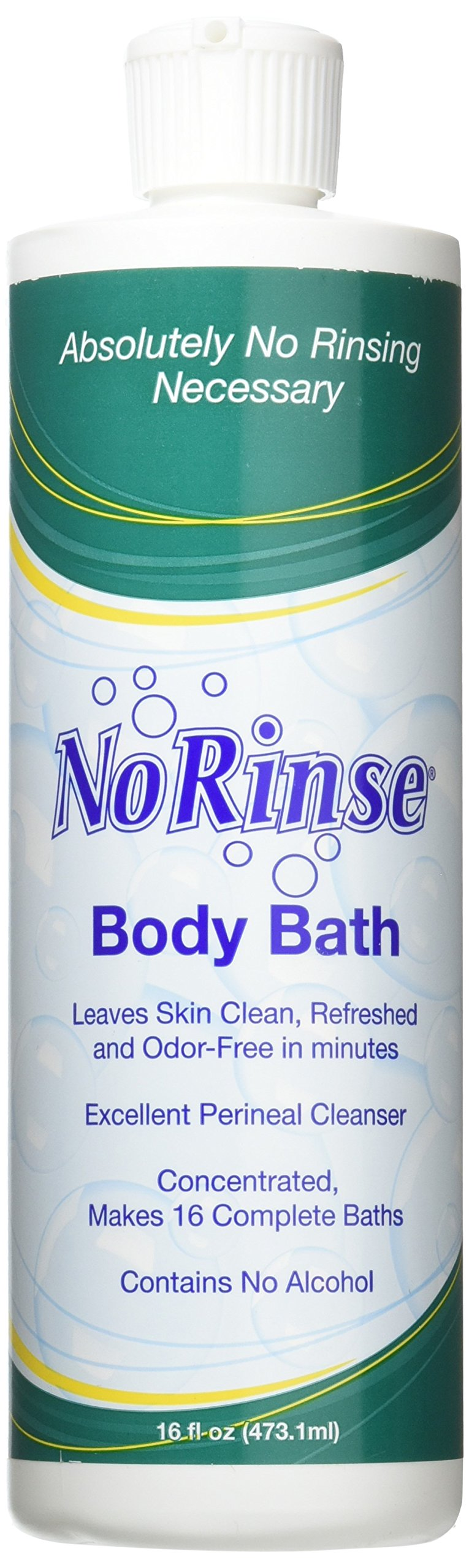 Special 1 Pack of 3 - No Rinse Body Bath 16 oz bottles - NRN910 by Med-Choice