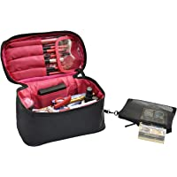 0d6563860893c Travel Makeup Bags Small Cosmetic Case Organizer for Women Black