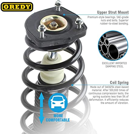 OREDY Front Rear Full Set Complete Shock Struts Assembly Coil Spring Kit Absorber 172222 15511 1331901R Compatible with Sportage 2005 2006 2007 2008 2009 2010//Tucson 2005 2006 2007 2008 2009