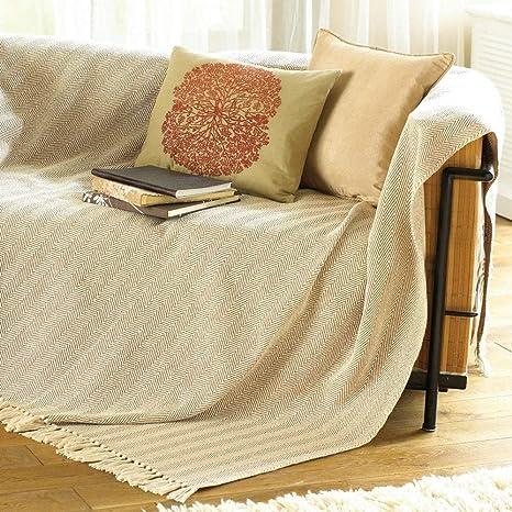 Como Uberwurf Decke Fur Stuhl Bett Oder Sofa 100 Baumwolle Beige 170 X 200 Cm