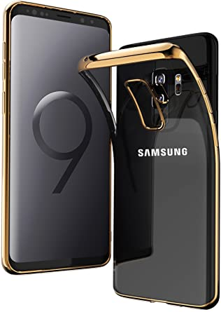 factory price 15a2a 1dcc6 TOZO for Samsung Galaxy S9 Plus Case, Clear Soft TPU Gel Skin [1.0mm Ultra  Thin] slim Soft Protective Cover [Gold Plating Edge]