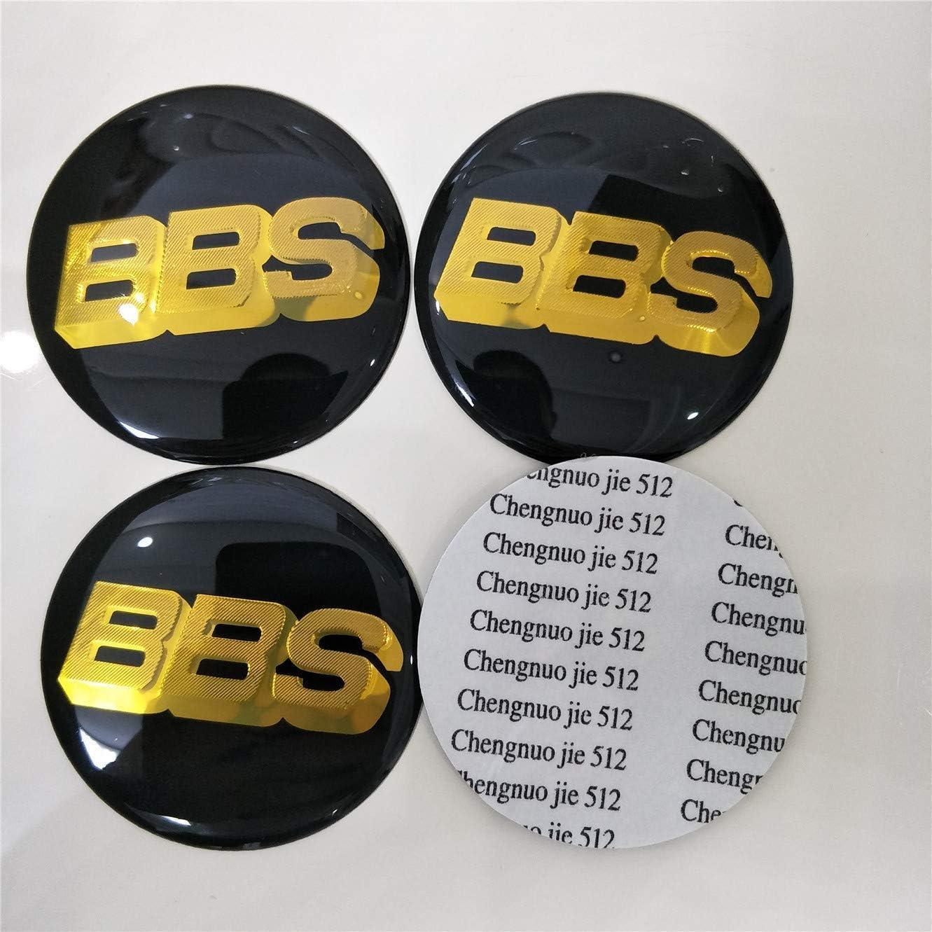 GONGXIFACAI 4PCS Wheel Center Hub Tapas Emblem Insignia Etiqueta Pegatinas para BBS Oro//Negro 60 mm