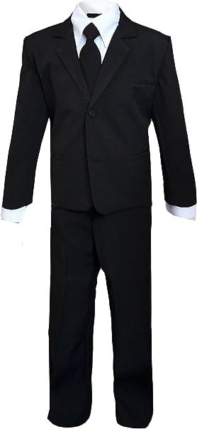 Kids Slenderman agente negro Suit Outfit disfraz máscara de sólo ...