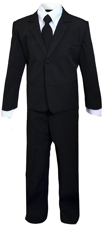 Kids Black Suit Costume