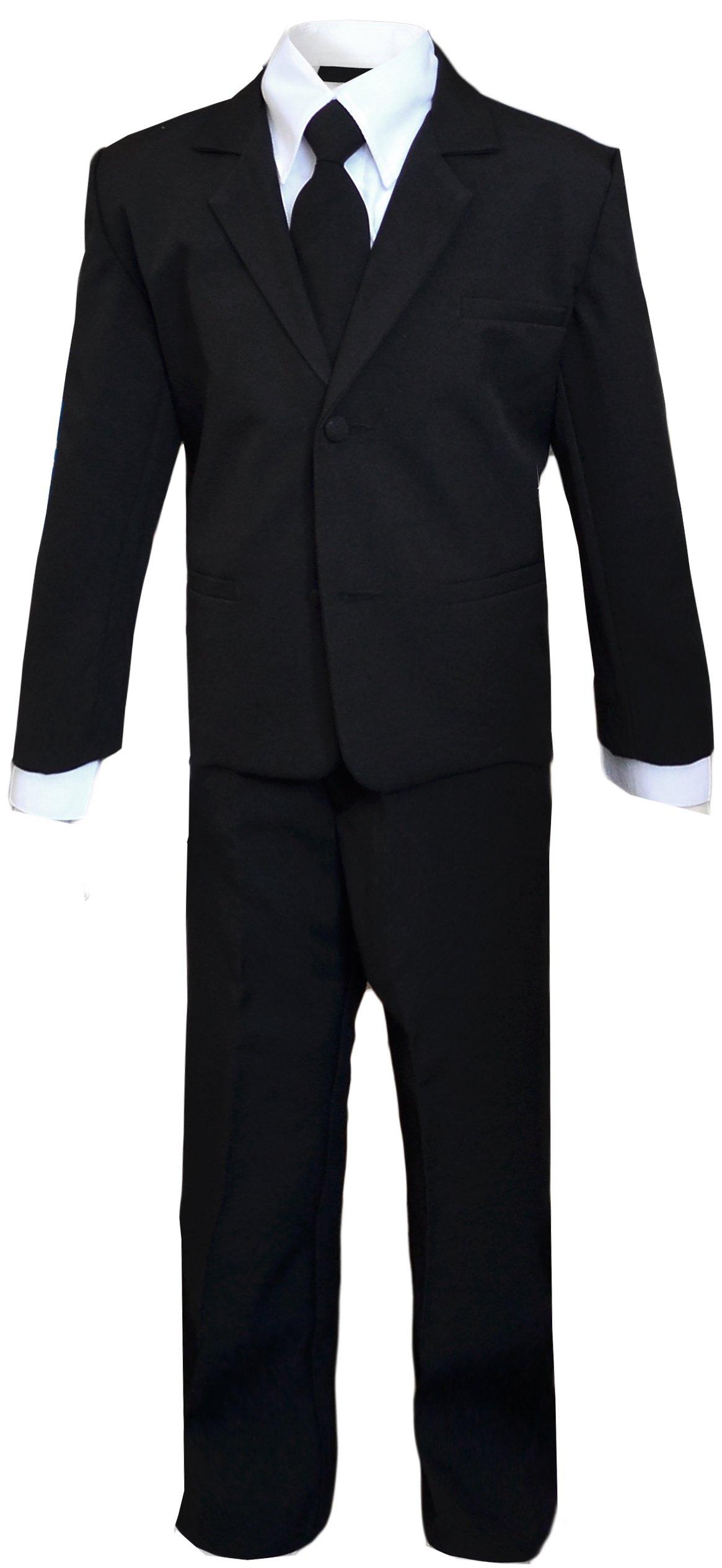 Kids Slenderman Agent Black Suit Costume Only Size 5