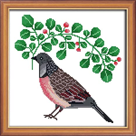 Cross Stitch Stamped//Counted Kits Birds Patterns Embroidery Needlepoint 11CT