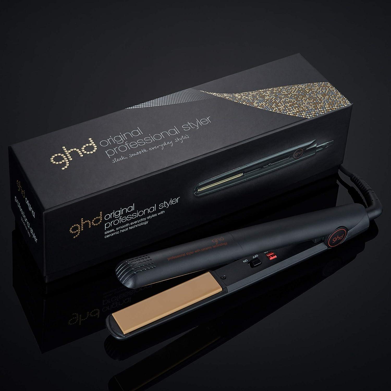 ghd Classic Original IV Hair Straightener, Ceramic Flat Iron, Professional Hair Styler, Black: Premium Beauty