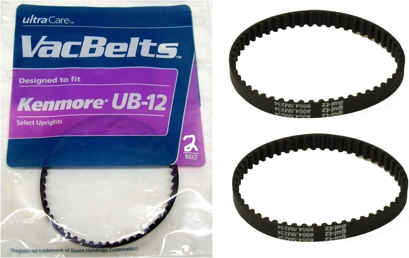 Ultracare VacBelts Replacement for UB-12 Vacuum Belt (Pack of 2)