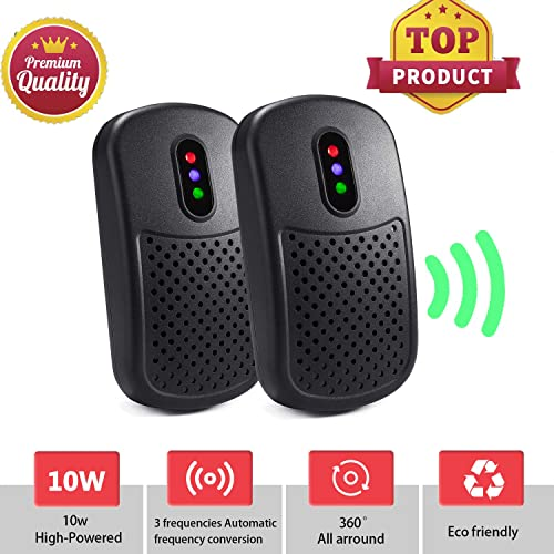 ATOOBSR Ultrasonic Pest Repeller Plug in 2 Packs, 2019 Newest Pest Control Mice Mouse Repellent Electronic Rodent Control for Rats, Fleas, Insects, Bugs, Spiders, Mice and More (color2)