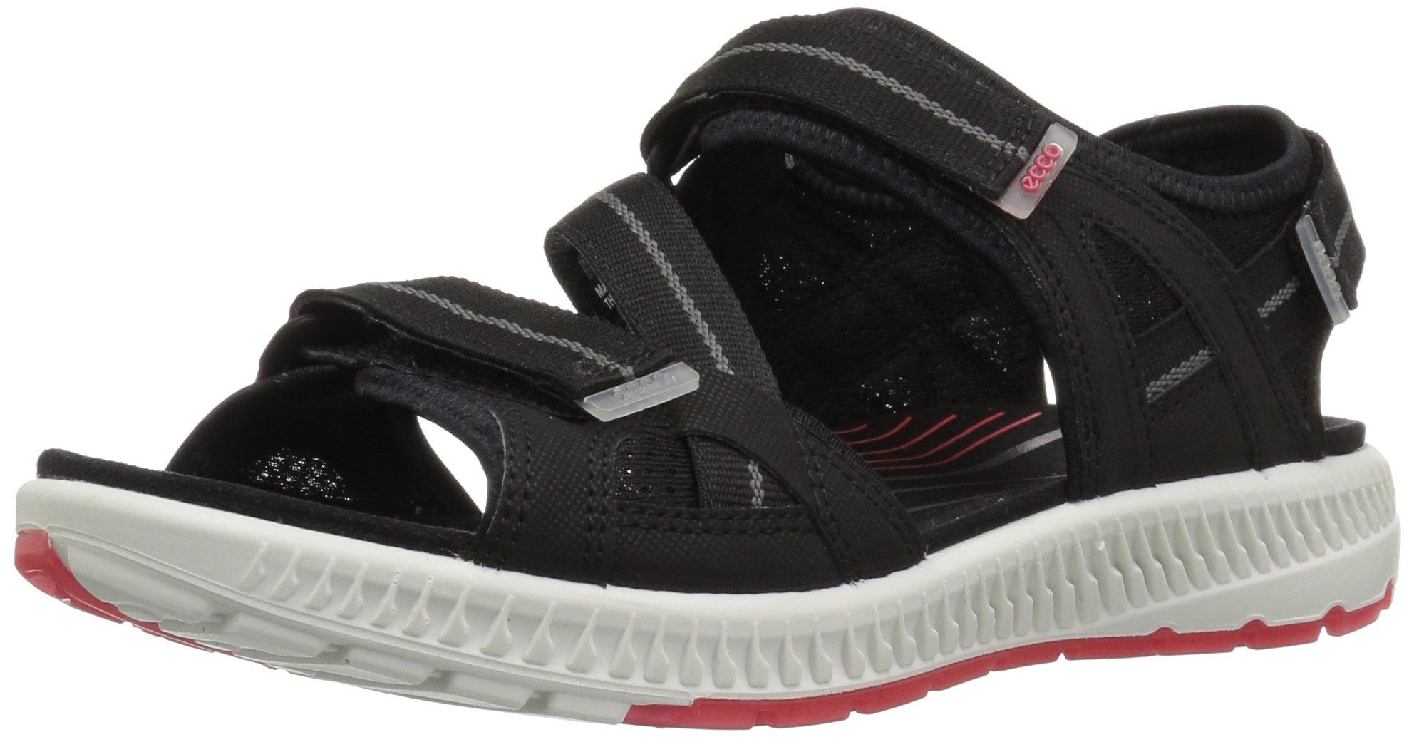 ECCO Women's Terra 3S Athletic Sandal, Black/Teaberry, 41 EU/10-10.5 M US