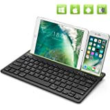 "Multi Device Bluetooth Keyboard for iPad Air 2/Air,iPad Pro,iPad mini 4/3/2/1,iPad 4/3/2,New iPad 9.7""(2018/2017),iPhone,Smartphones,Tablets and Other Bluetooth Enabled Devices"