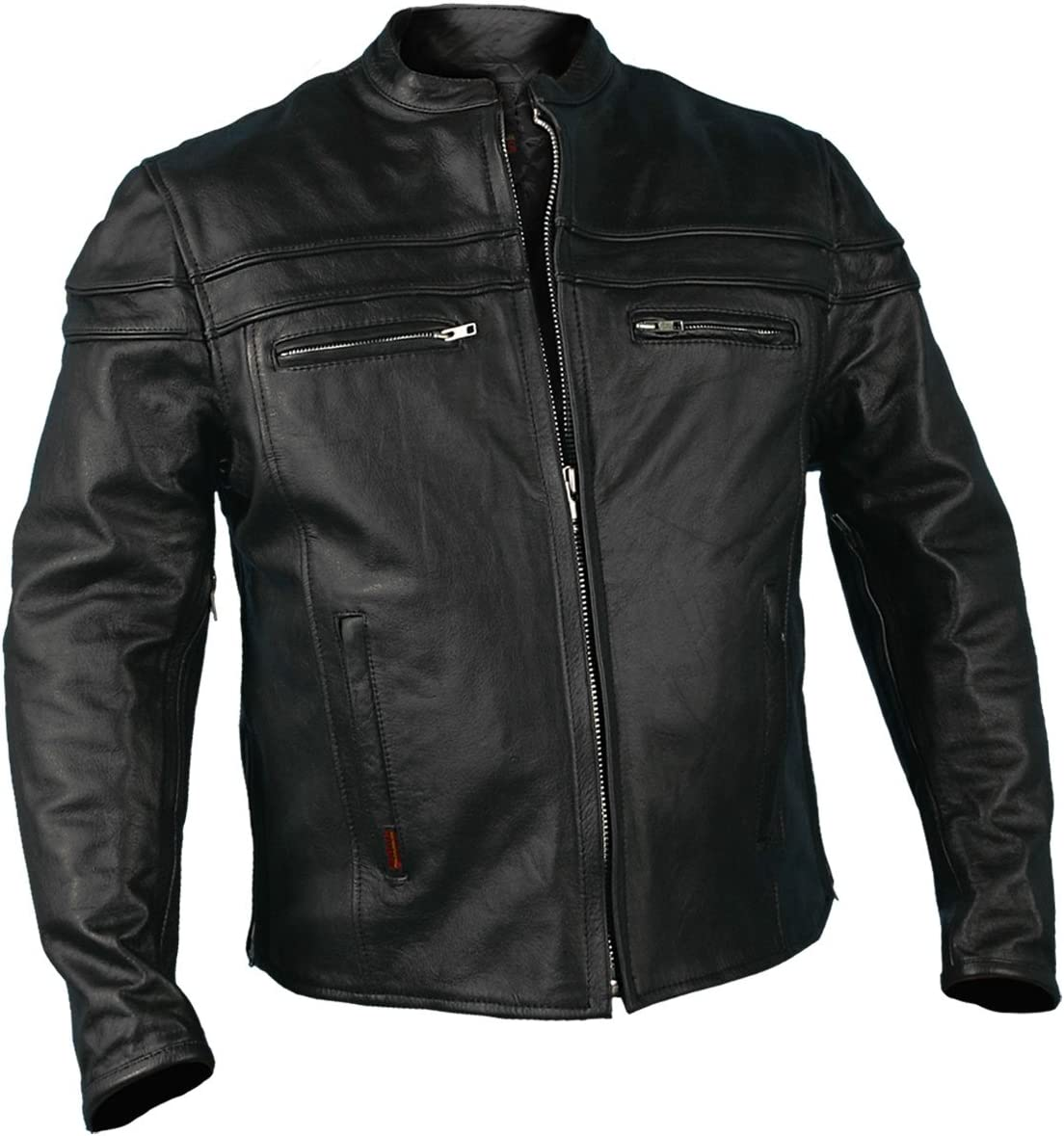 Hot Leathers Men's Heavyweight Jacket with Double Piping