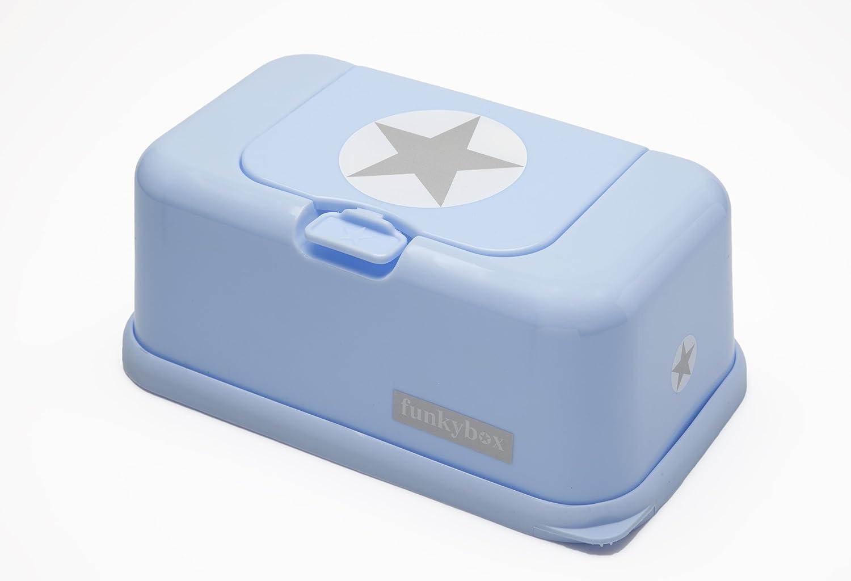 Funky Box FB04 Funkybox - Cajita para toallitas húmedas, color azul diseño estrella: Amazon.es: Bebé