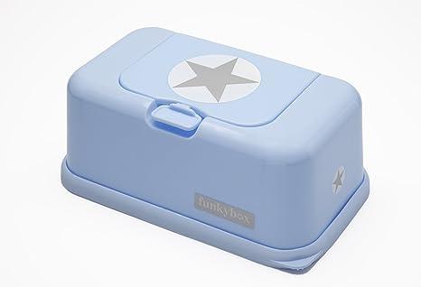 Funky Box FB04 Funkybox - Cajita para toallitas húmedas, color azul diseño estrella