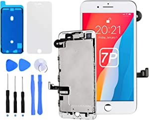 E-SUNG Trade for iPhone 7 Plus Screen Replacement Complete LCD Display 3D Touch Digitizer Screen with Full Assembly Repair Tools Home Button Proximity Sensor Earpiece Speaker