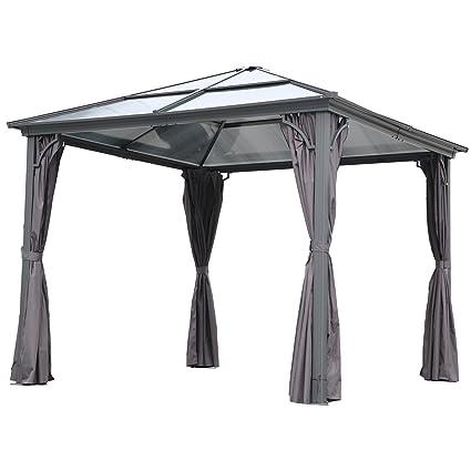 Carpa de aluminio para jardin 3 x 3 m  (Gazebo).