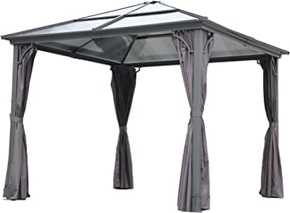 Angel Living 3 x 3 m Aluminio Patio Gazebo Toldo Marquee Carpa ...