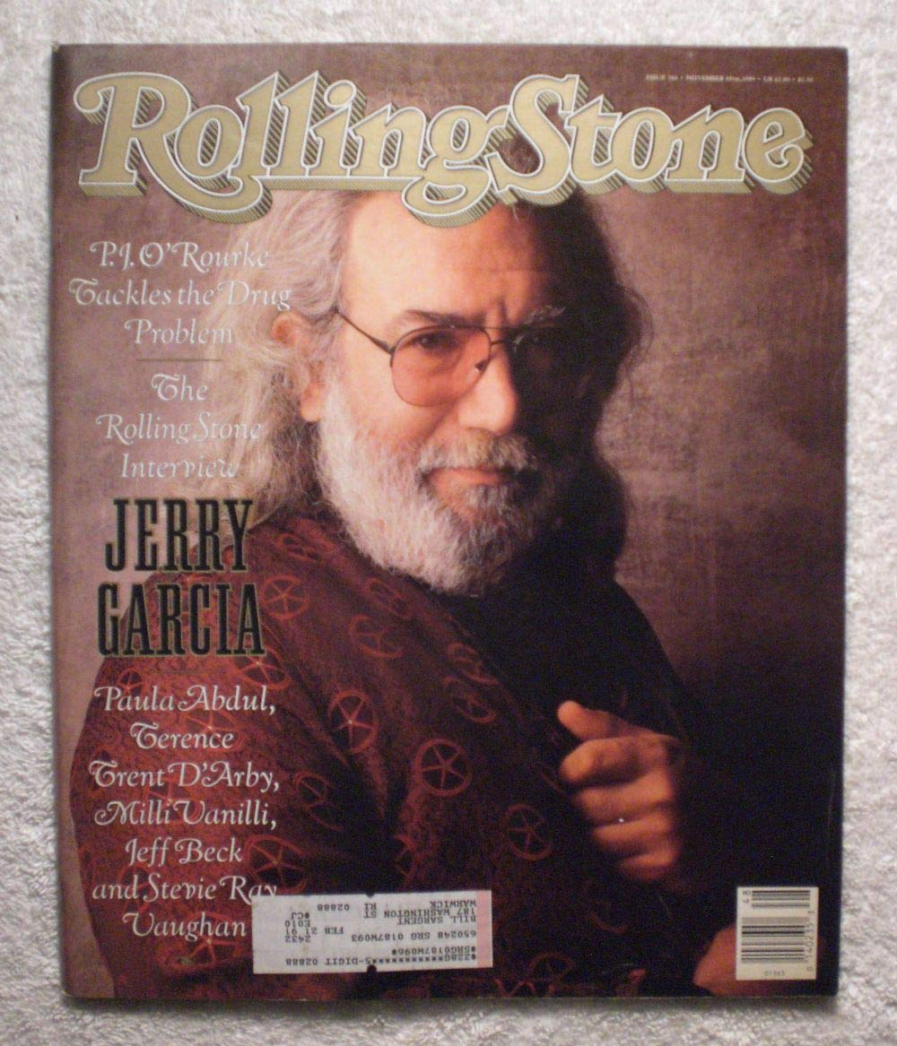 Jerry Garcia – The Rolling Stone Interview - Grateful Dead - Rolling Stone Magazine - #566 - November 30, 1989 – The Drug Problem, Paula Abdul, Milli Vanilli articles
