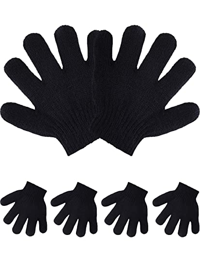 cheap for sale discount shop huge discount Pangda 5 Pairs Toddler Winter Gloves Kids Knitted Gloves Warm Stretchy 5  Fingers Mitten for 1 to 3 Years Old Boys Girls (Black)