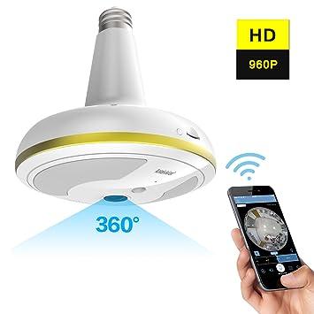 ... para cámara de seguridad, sistema de seguridad para el hogar, 360 grados con detección de movimiento/visión nocturna para iOS y Android APP: Amazon.es: ...