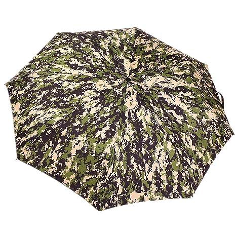 Impermeable Paraguas Plegable Camuflaje anti viento irrompibles bajo el viento fuertes y lluvia xagoo® Viaje