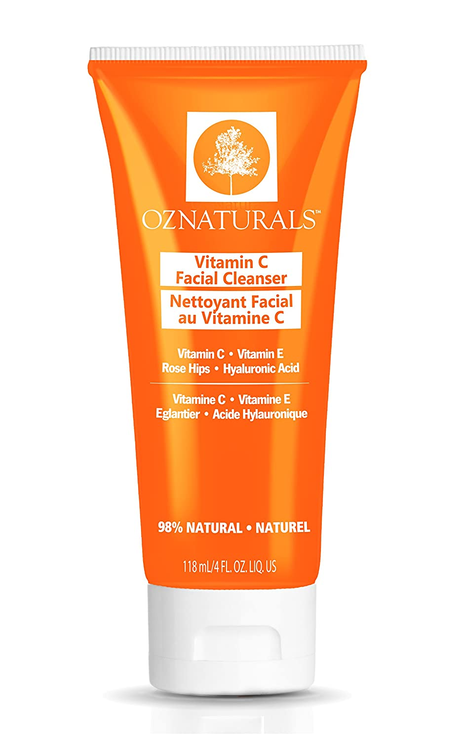 OZNaturals Vitamin C Facial Cleanser – This Natural Face Wash Is The Most Effective Anti Aging Cleanser Available - Deep Cleans Your Pores Naturally For A Healthy, Radiant Glow.