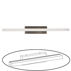 Facon 16.5Inch LED RV Vanity Lights Fixtures Wall Sconces Bathroom Mirror Light with Stainless Steel Base, 12V DC