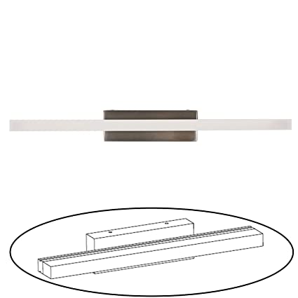 Facon 16 5Inch LED RV Vanity Lights Fixtures Wall Sconces Bathroom Mirror  Light with Stainless Steel Base, 12V DC