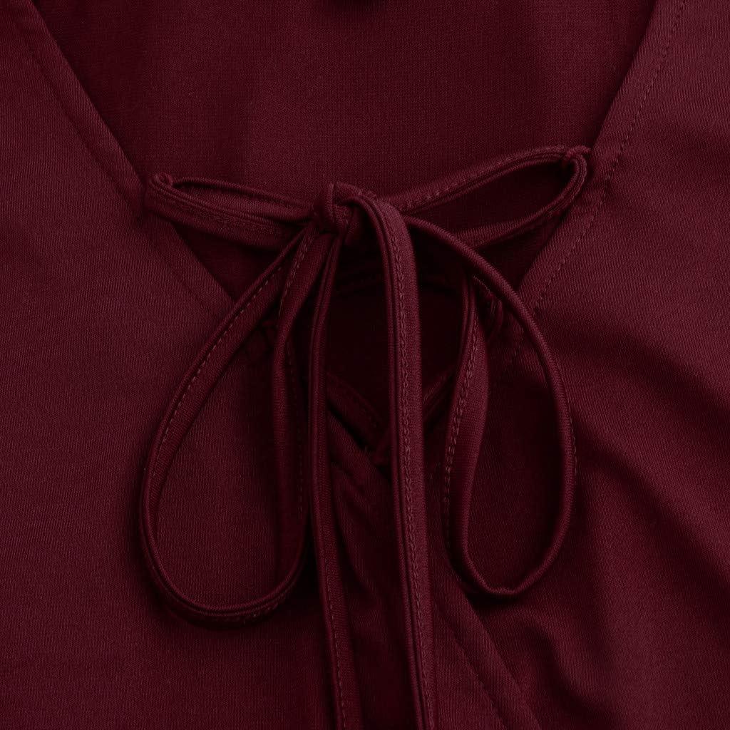 ZFK_Tops Blusa Tipo túnica con Cuello en V y Tirantes Cruzados ...