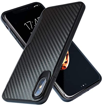 iPhone X Case | iPhone Xs Case | 10ft. Drop Tested | Carbon Case | Ultra Slim | Lightweight | Scratch Resistant | Wireless Charging | Compatible with ...