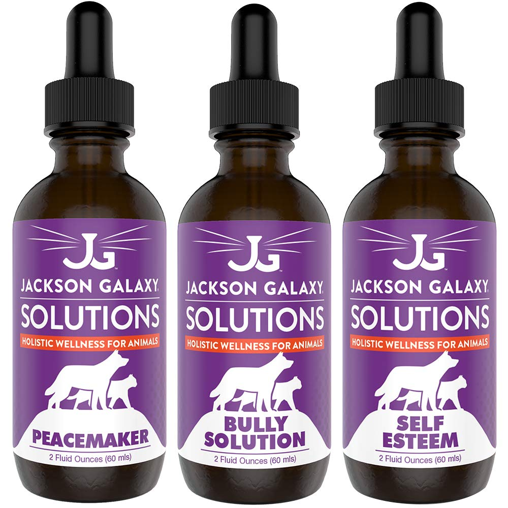 Jackson Galaxy: Ultimate Peacemaker Set - Peacemaker, Bully Solution, & Self-Esteem (2 oz.) - Pet Solution - Can Support Bullying, Self-Confidence, & Sense of Community - All-Natural Formula by Jackson Galaxy