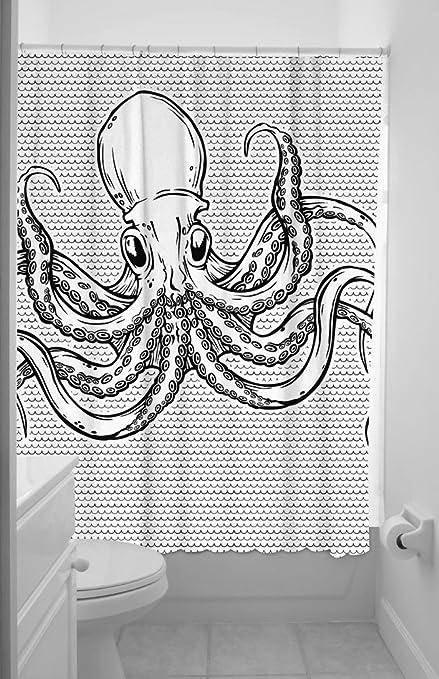 Sourpuss Octopus Shower Curtain, 72 Inch X 78 Inch