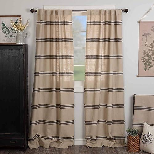 Mill House Stripe Black Panel Panel Curtain