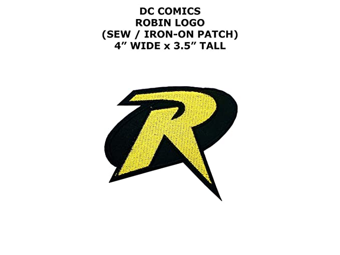 Amazon Robin Uniform Big R Logo 3 Tall Embroidered Batman