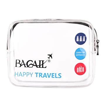82c89e87ce45 Amazon.com   Bagail Clear Travel Toiletry Bag