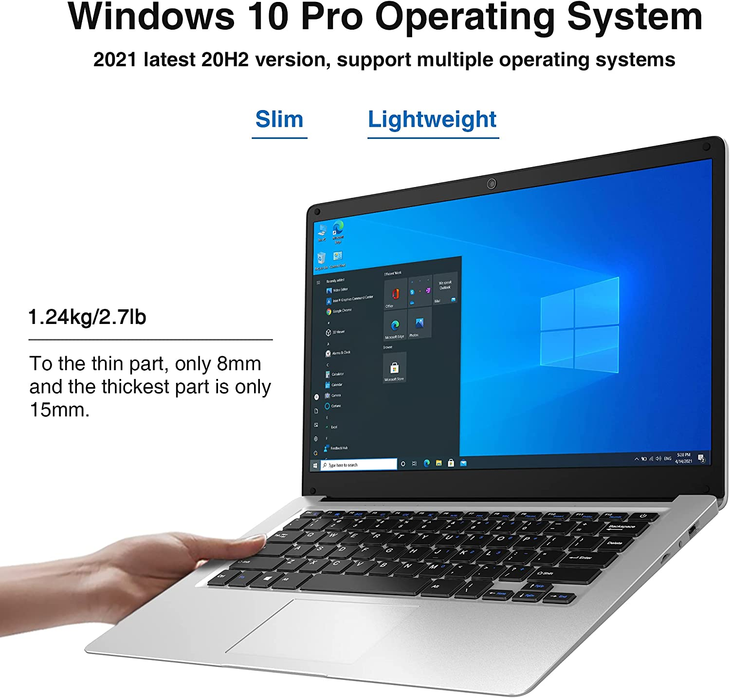 up to 2.7GHz Expandable up to 1TB 2021 New BiTECOOL CosBook ...