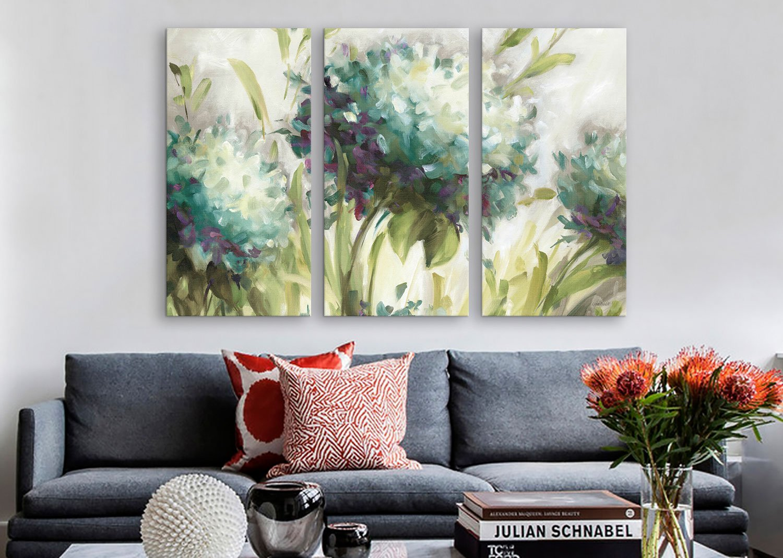 26 x 18 iCanvasART WAC770 Hydrangea Field Canvas Print by Lisa Audit