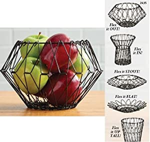 Trenton Gifts Folding Counter Wire Fruit Basket | Bread Basket | Perfect for Fruit, Vegetables, Snacks, Household Items, and Much More