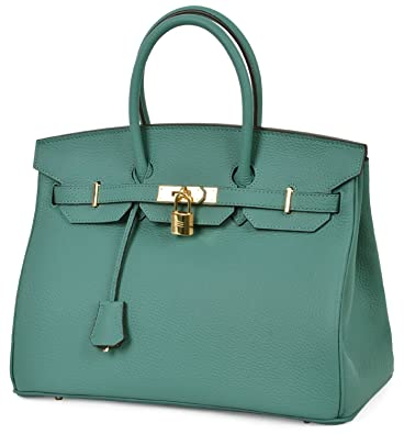96e04b49494 Cherish Kiss Women s Handbags Genuine Leather Tote Padlock Bags  Handbags   Amazon.com