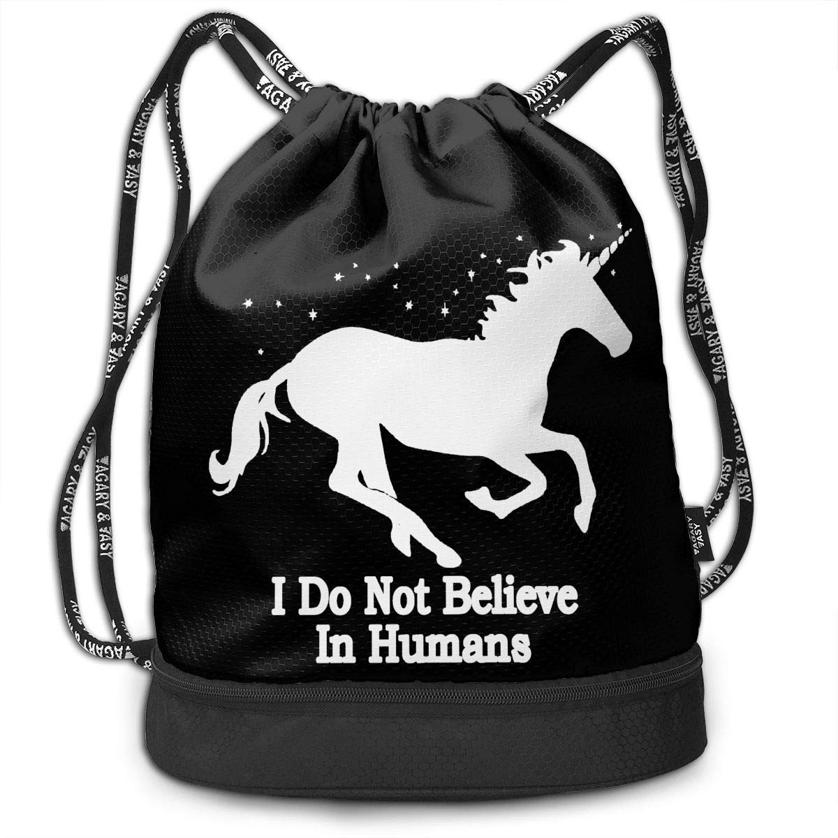 HFTIDBC I Am A Unicorn and I Do Not Believe in Humans ポンプロープバッグ バックパック   B07KPTG75M